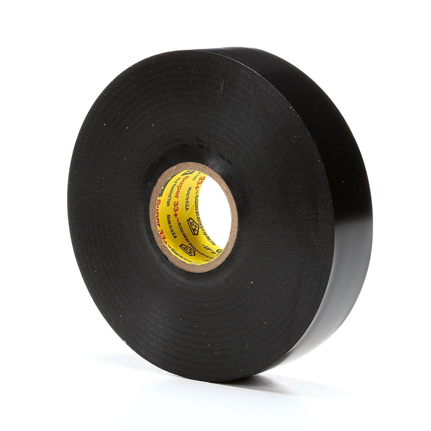 3M Black 33+ Scotch Super 33+ Tape, Black 19mm x 20m