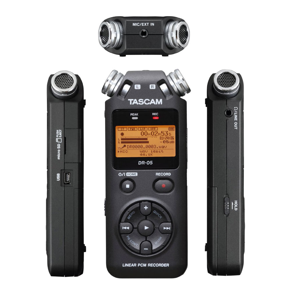 Tascam Recorder Dr 05 : tascam dr 05 portable mp3 wav recorder radioactive ~ Vivirlamusica.com Haus und Dekorationen