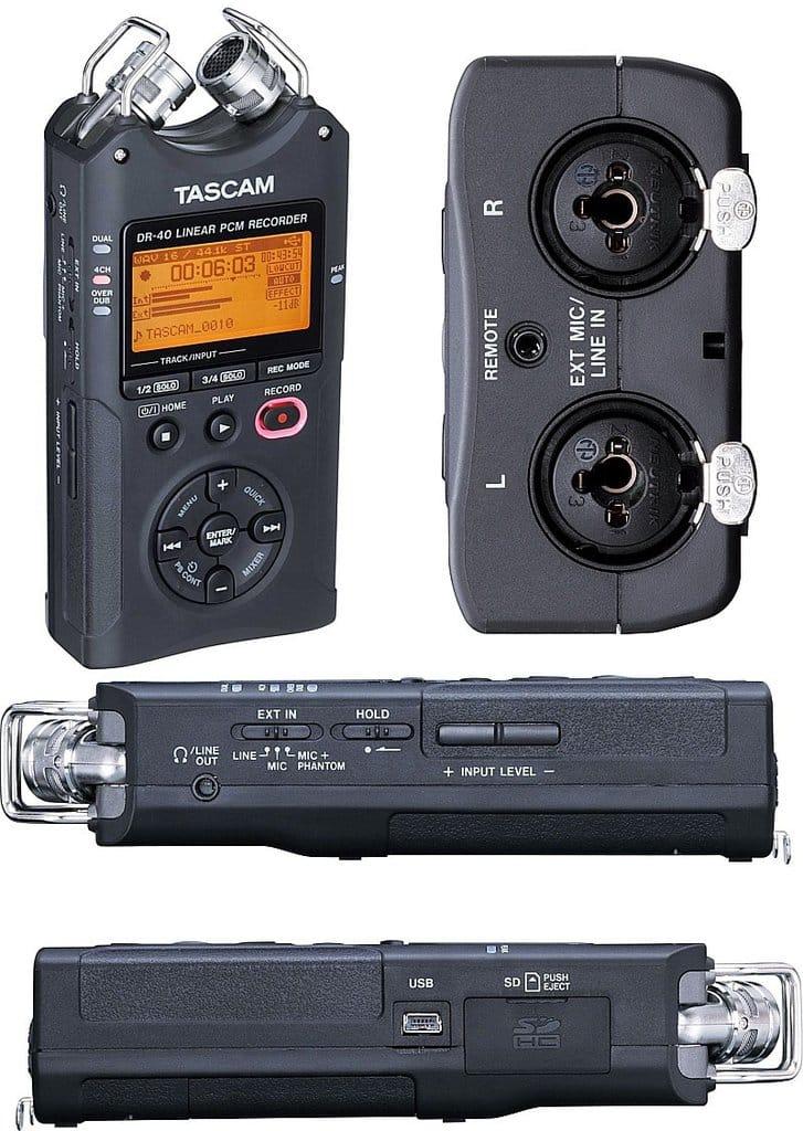 TASCAM DR-40 Portable Recorder