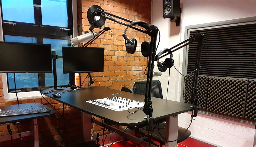 Radio Studio at Radio Porth